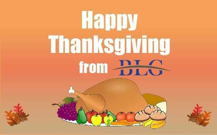 Happy Thanksgiving from BLG