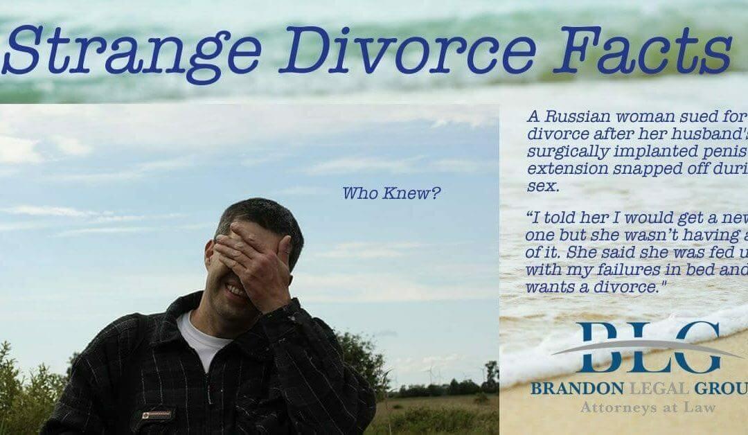 Strange Divorce Facts – Who Knew – Brandon Legal Group