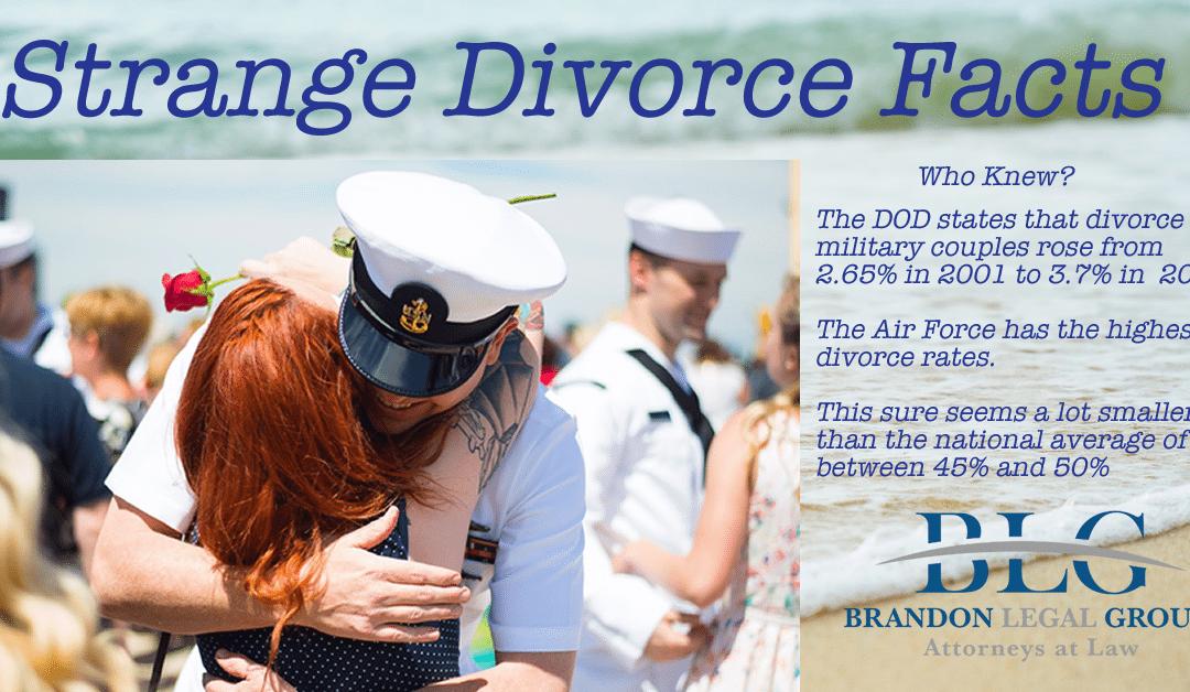 Strange Divorce Facts –  Military Divorce