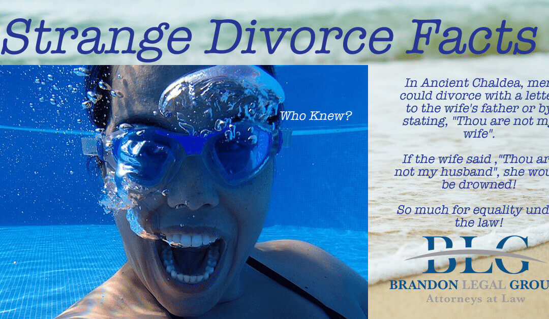 Strange Divorce Facts – So much for equality under the law!