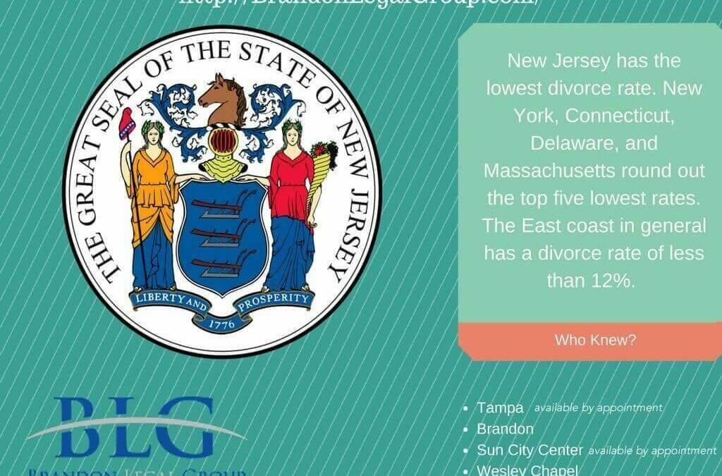 Odd Divorce Facts – Lowest Divorce Rates by State