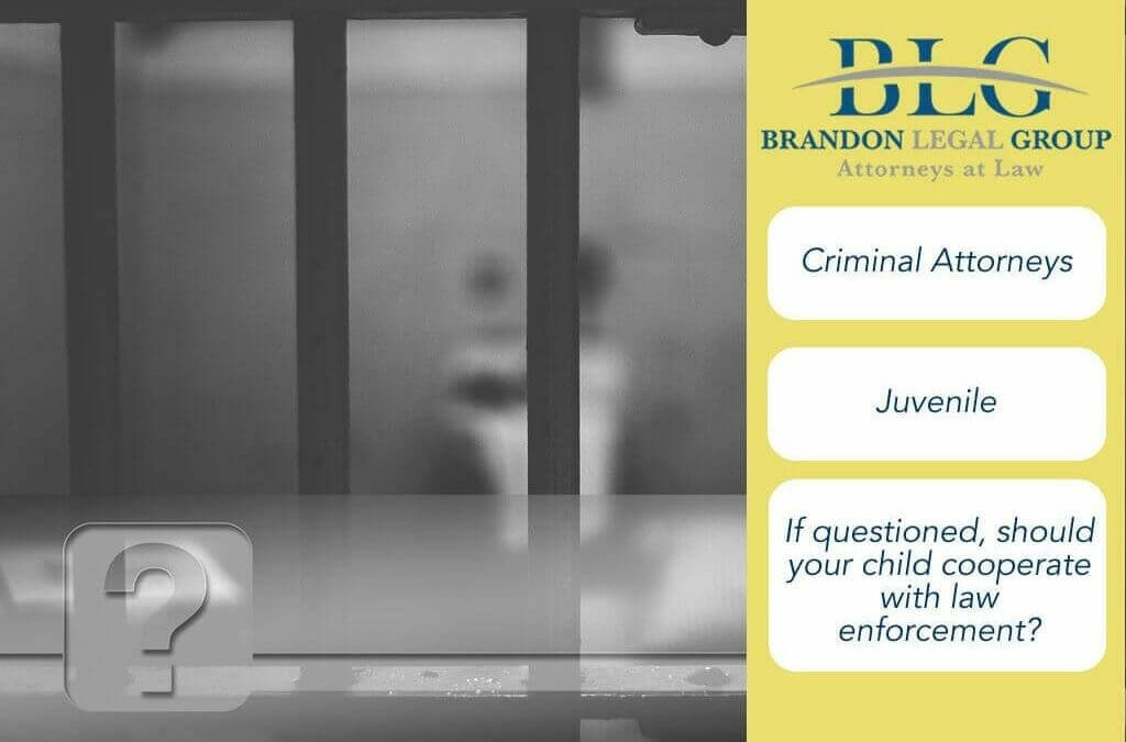 If questioned, should your child cooperate with law enforcement?