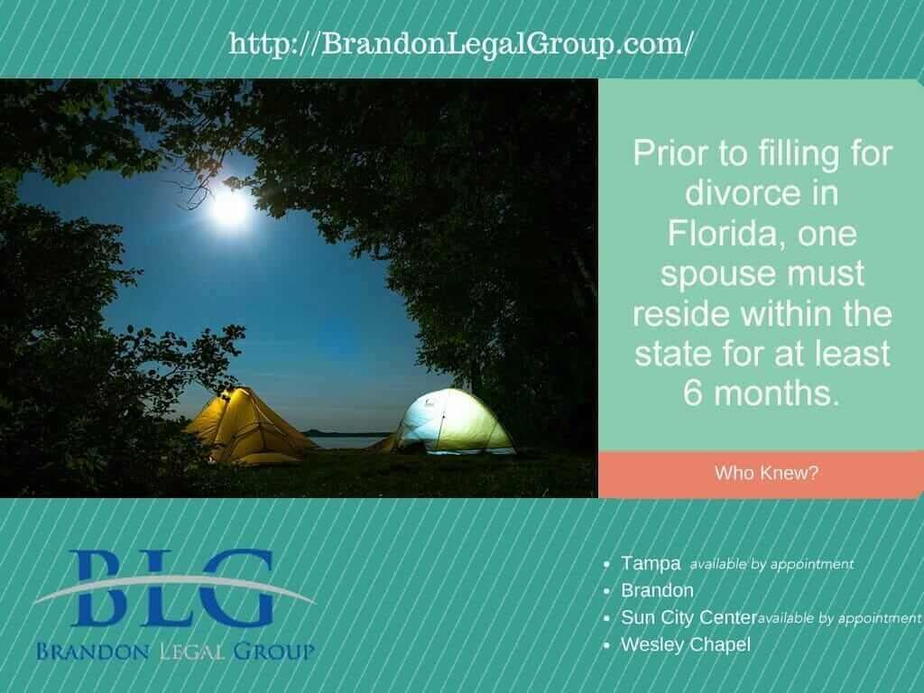 Florida Divorce, Residency Requirements | Brandon Legal Group