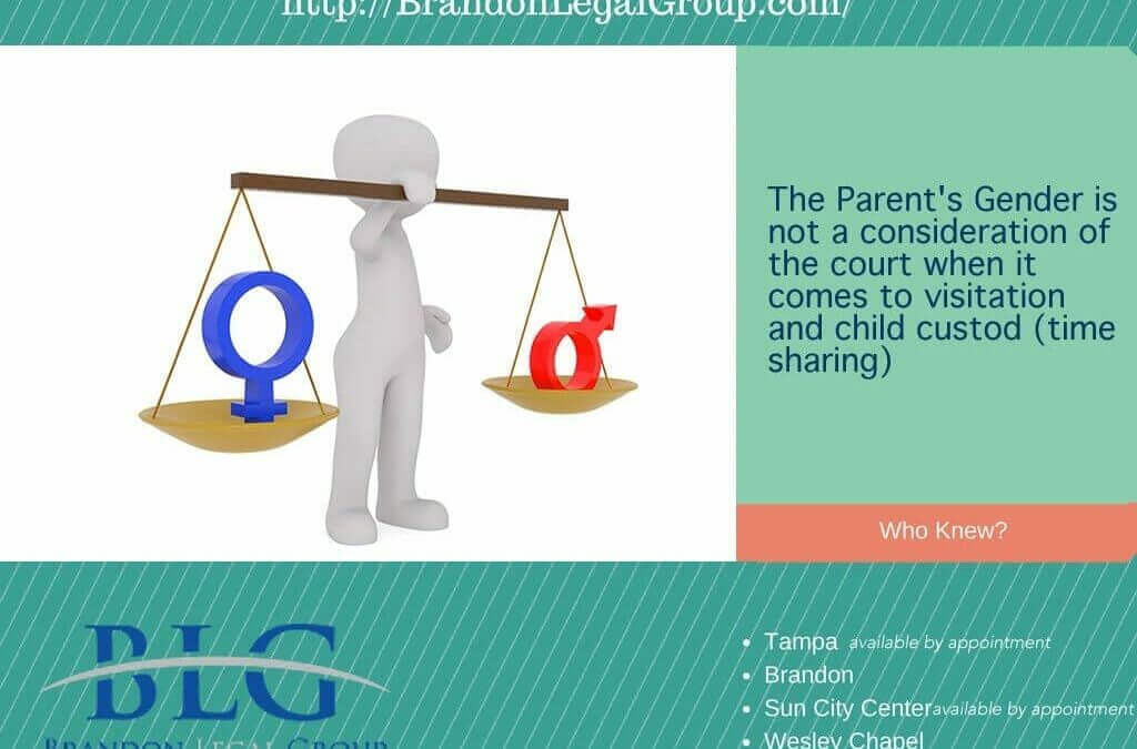 Gender in Custody and Time Sharing – Brandon Legal Group