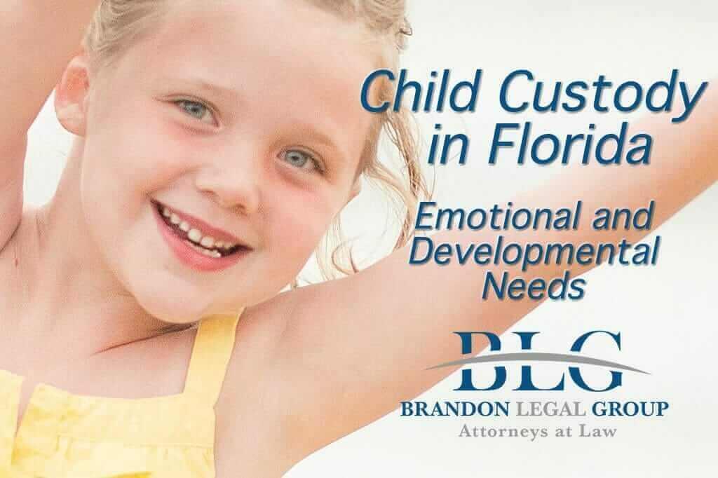 Florida Custody Standards – Emotional & Developmental Needs