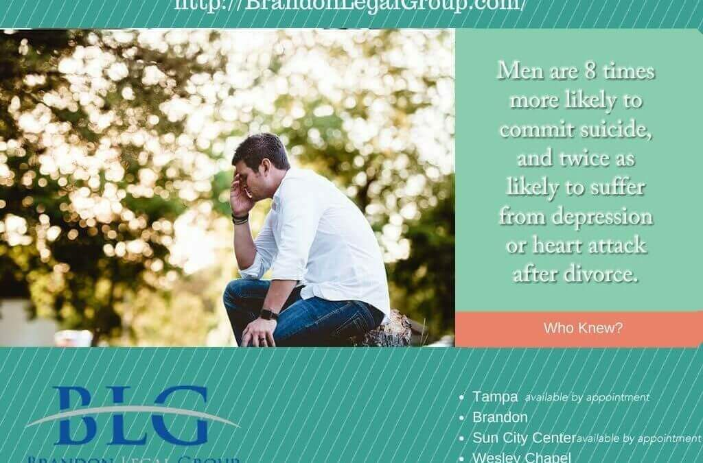 Divorce Facts, Men, Divorce and Suicide – Brandon Legal Group