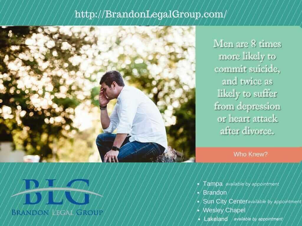 Divorce Facts, Men, Divorce and Suicide – Brandon Legal Group