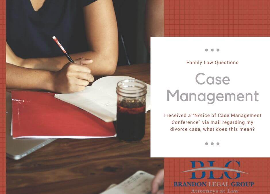 Divorce Case Management Conference – What does it mean?