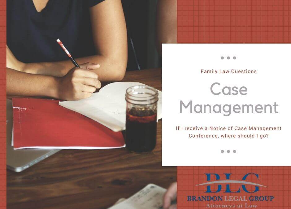 If I receive a Notice of Case Management Conference, where should I go?
