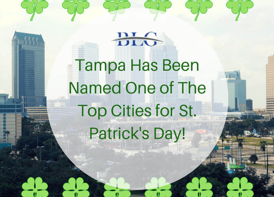 Tampa Named One of Top Cities for St. Patrick's Day!