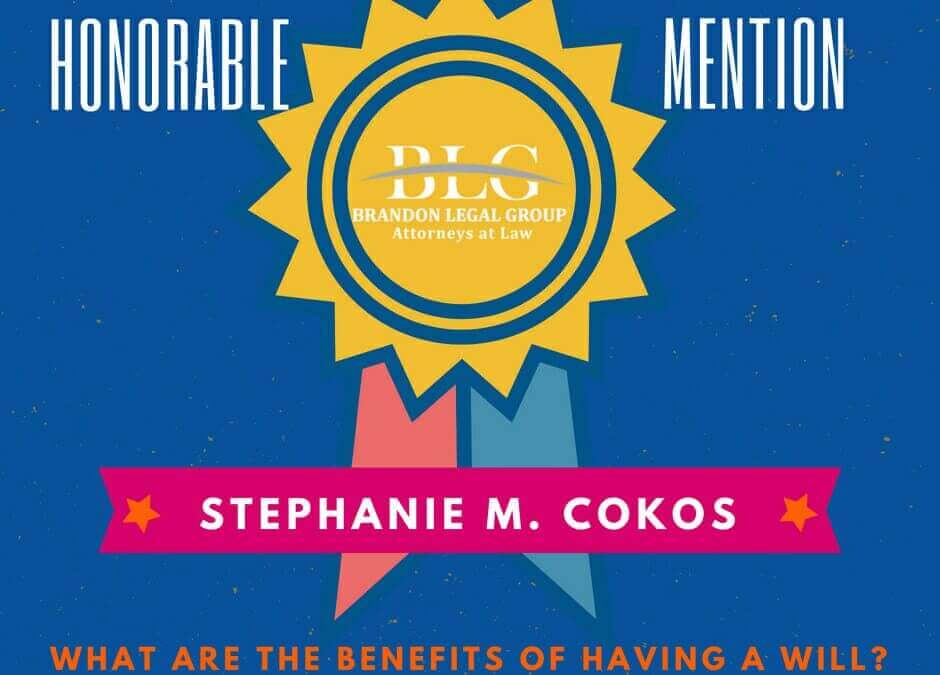 Legal Scholarship Honorable Mention Stephanie M. Cokos