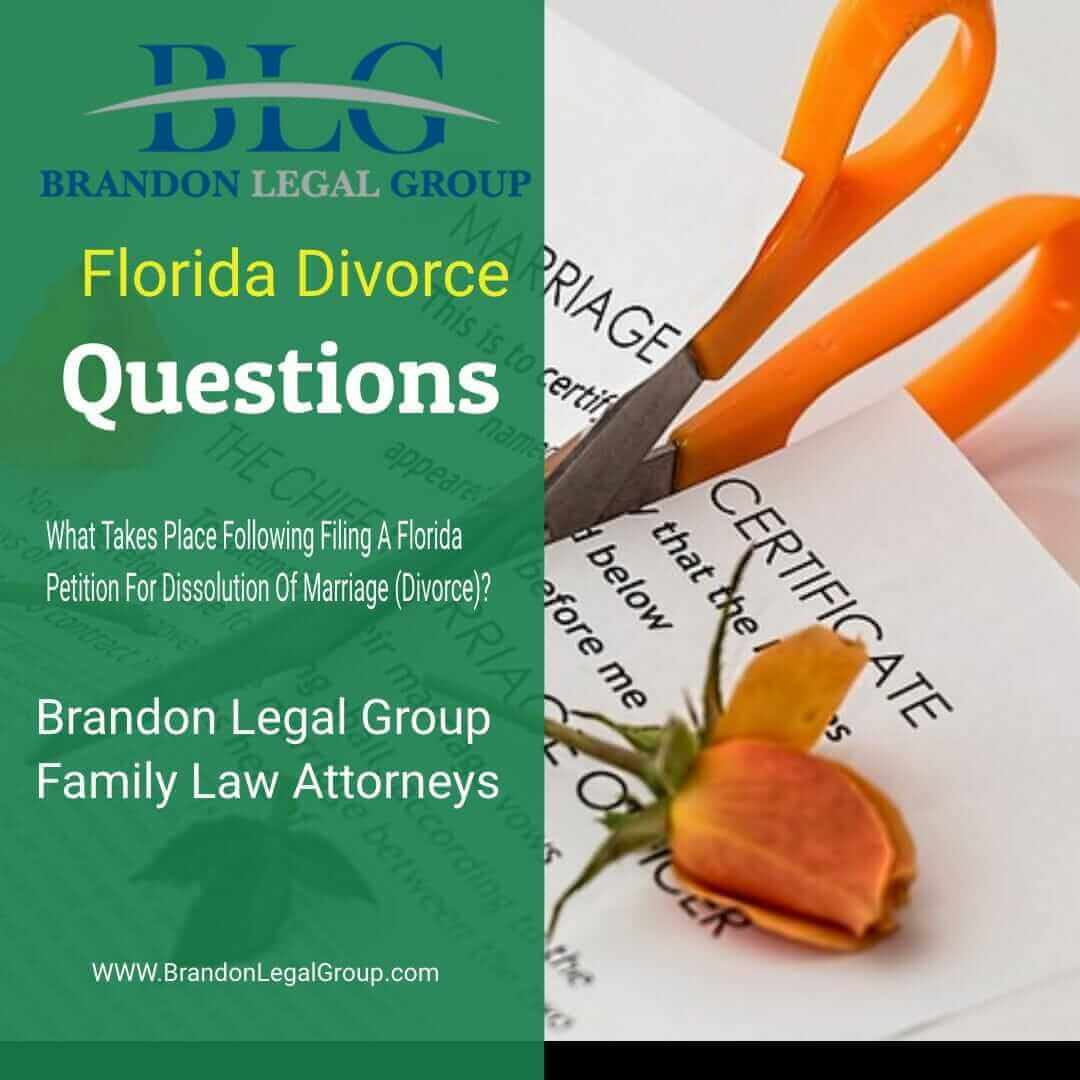 What Follows Filing A Florida Petition For Dissolution Of ...