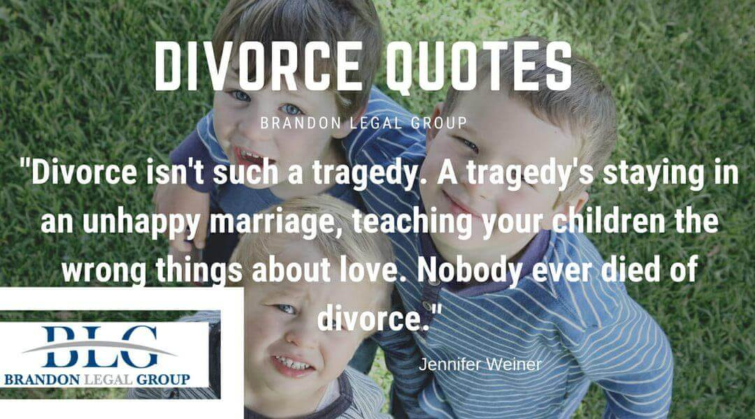 Divorce isn't such a tragedy…   Brandon Legal Group