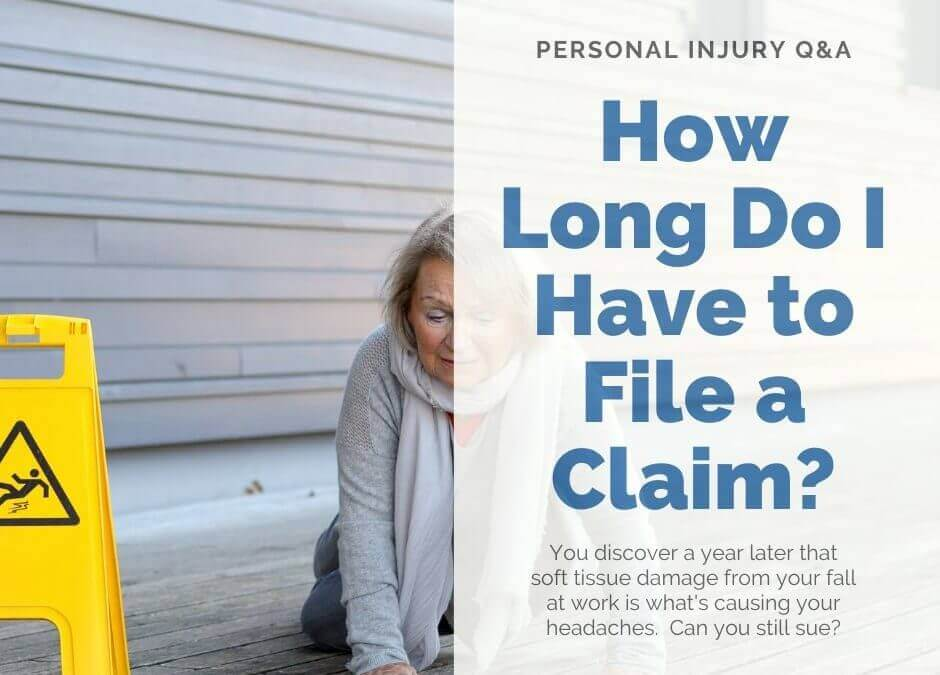 Personal Injury Lawsuits – How Long Do I have to File?