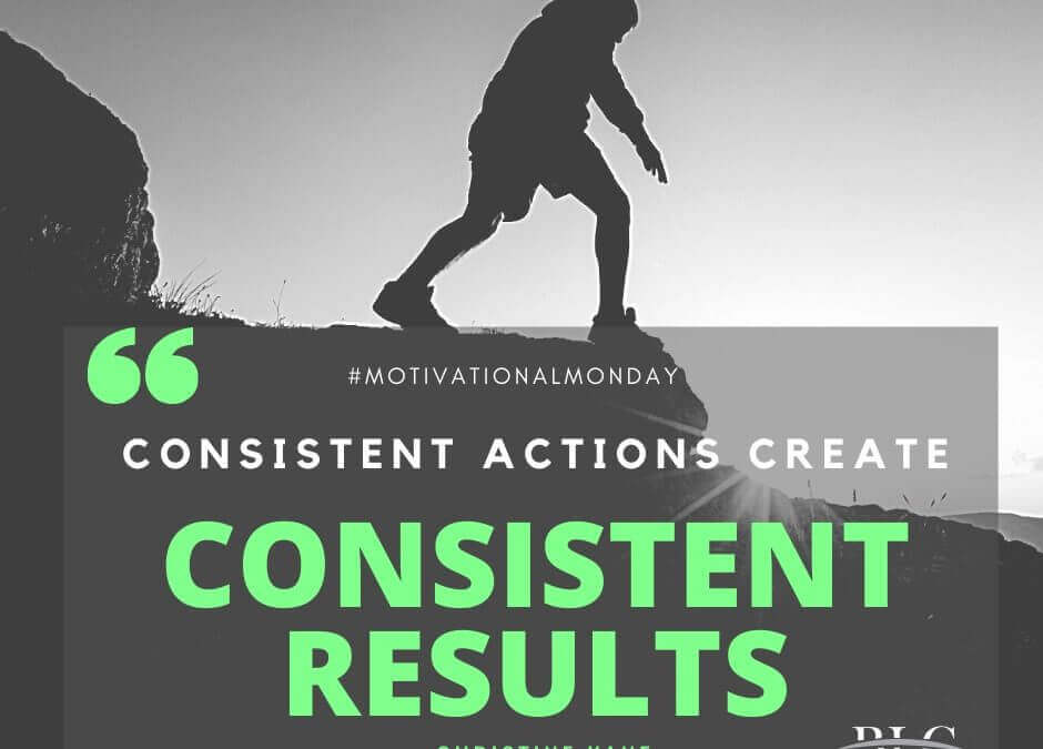 Motivational Monday – Consistent Actions!