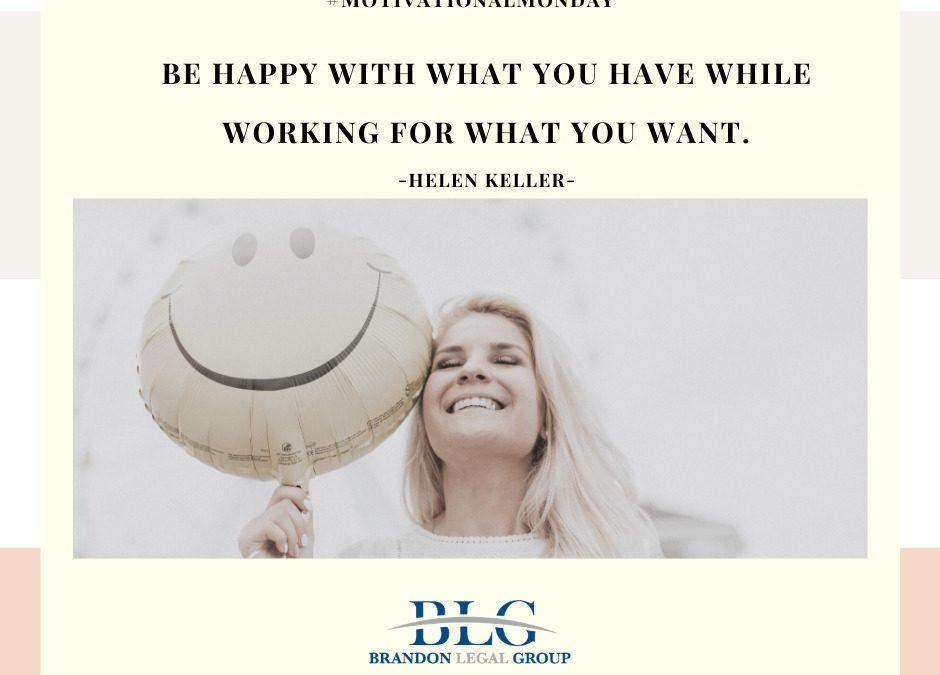 Motivational Monday – Be Happy!
