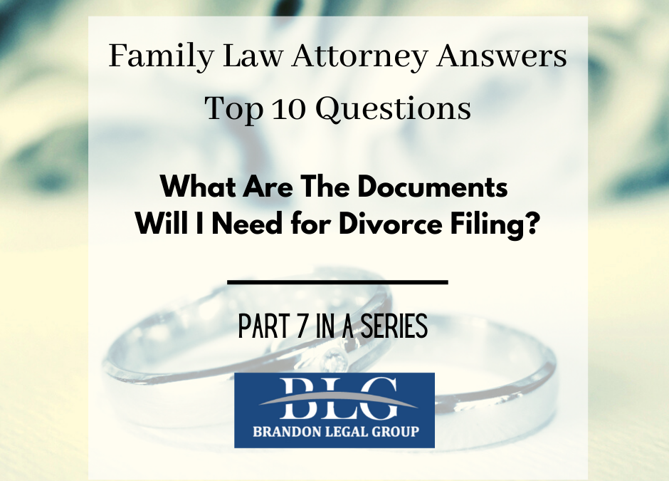 Divorce Filing – Seventh in a 10 Part Divorce Q&A
