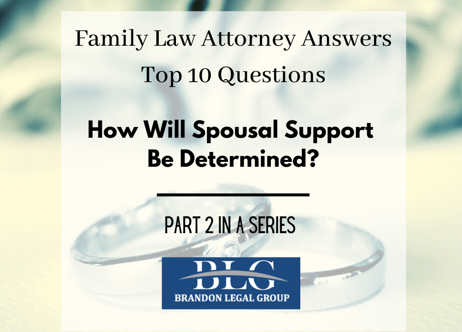 Spousal Support – Second in a 10 Part Divorce Q&A