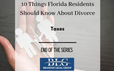 10 Things FL People Should Know About Divorce-Taxes