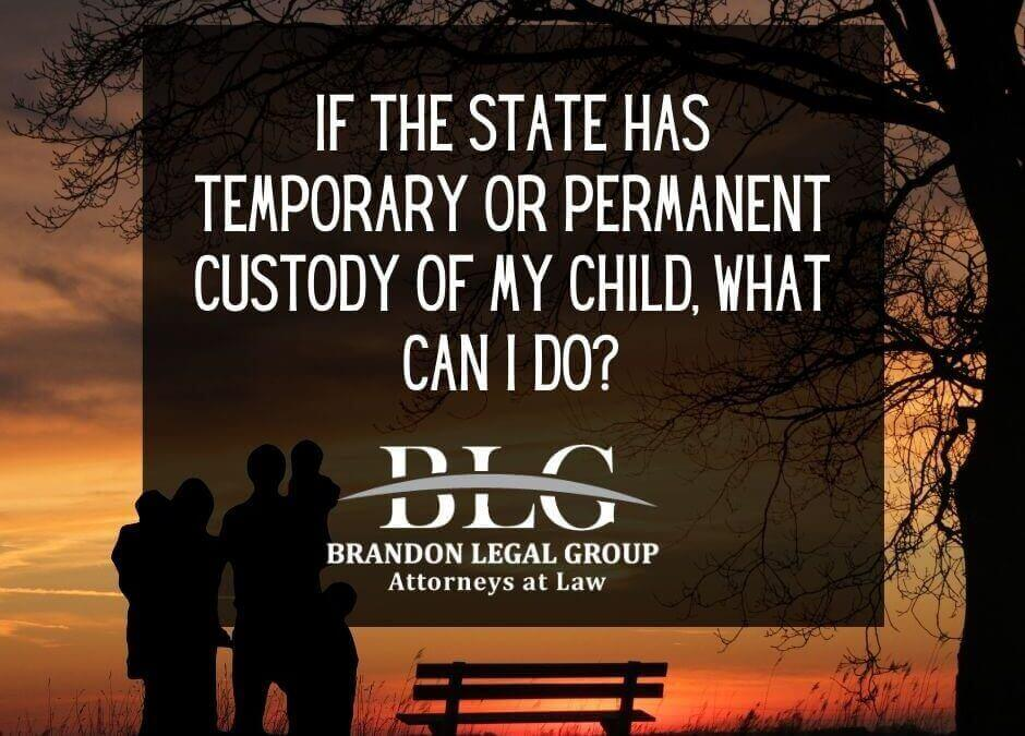 If the State Has Temporary or Permanent Custody of My Child, What Can I Do_