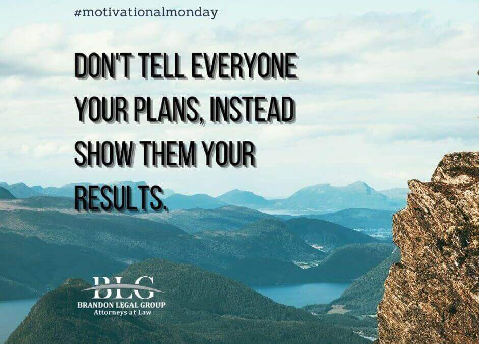 Motivational Monday - Show Your Results