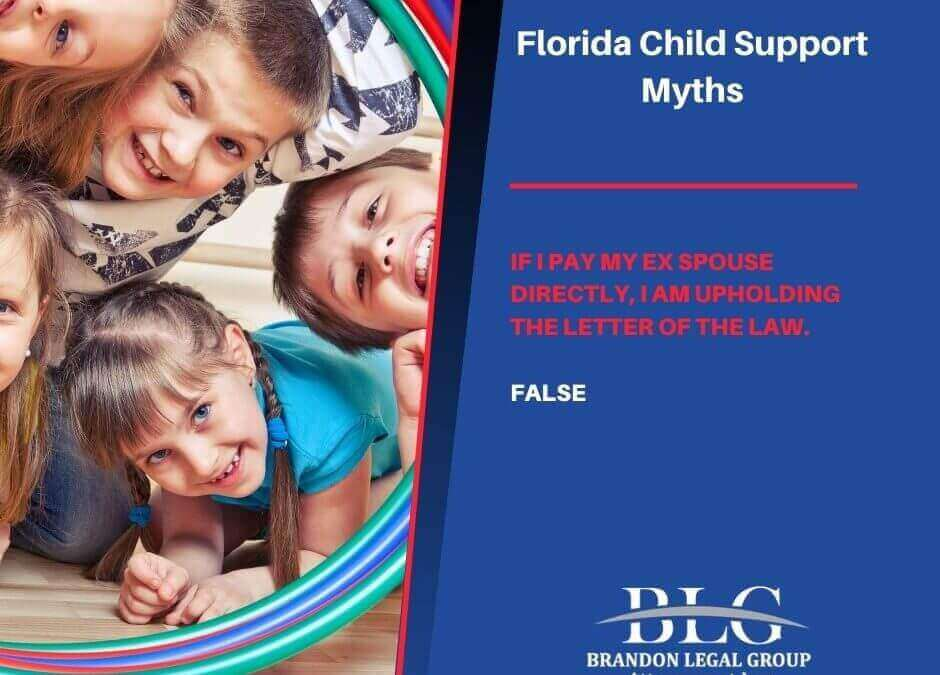 Myth #5 – If I Pay My Ex Spouse Directly, I Am Upholding the Letter of the Law