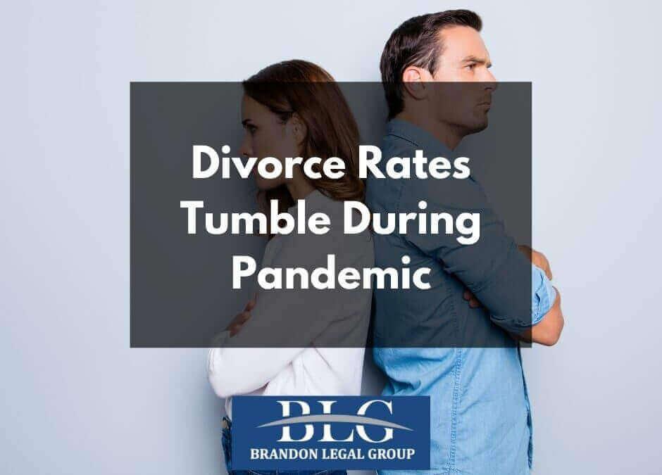 Divorce Rates Tumble During Pandemic